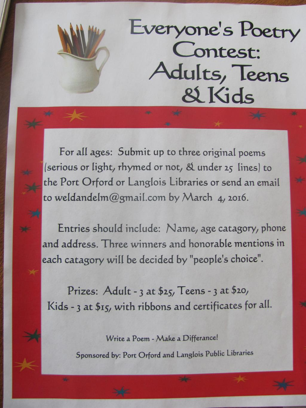 Adult Poetry Contest