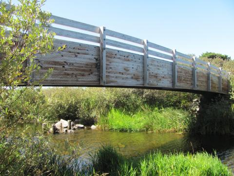 Floras Lake Outlet Bridge