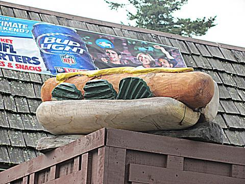 Carved hot dog