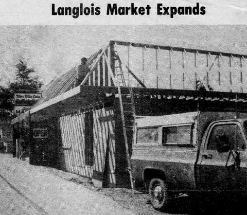 Langlois Market expansion and remodel in 1981 (Western World)