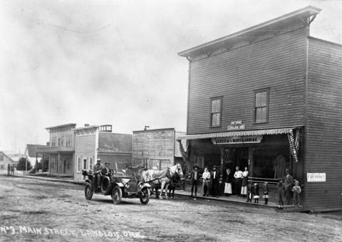 s Langlois general merchandise store with post office established by A. H. Thrift and Frank Langlois