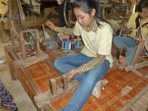 Hand spinning- Cambodia