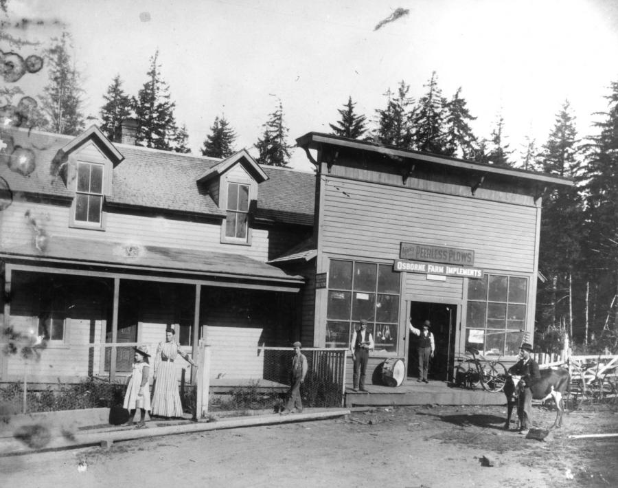 General store, Langlois, OR, c. 1900